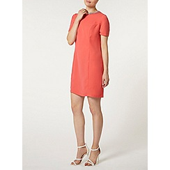 Dorothy Perkins - Coral embellished shift dress