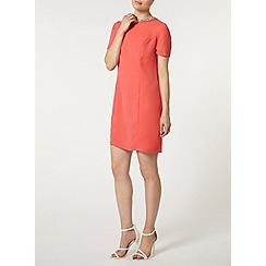 Dorothy Perkins - Coral embellished shift dress