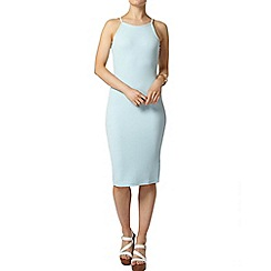 Dorothy Perkins - Aqua high neck bodycon dress