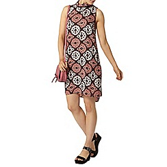 Dorothy Perkins - Coral printed roll neck shift dress