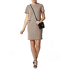 Dorothy Perkins - Zig zag jacquard shift dress