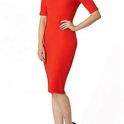 Dorothy Perkins - Red textured bodycon dress