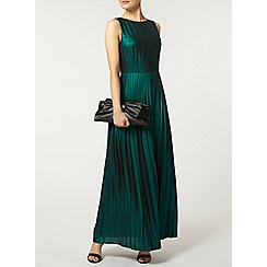 Dorothy Perkins - Green shimmer maxi dress