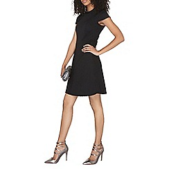Dorothy Perkins - Black thick rib fit and flare dress