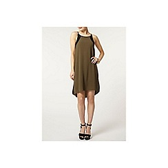 Dorothy Perkins - Khaki contrast shift dress