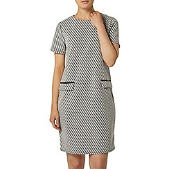 Dorothy Perkins - Black and white zip shift dress
