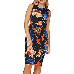 Dorothy Perkins - Multi coloured floral print knot side pencil dress