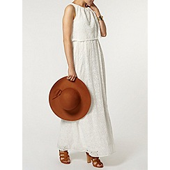 Dorothy Perkins - Broderie double layer maxi dress