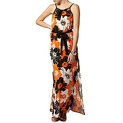 Dorothy Perkins - Orange poppy maxi dress