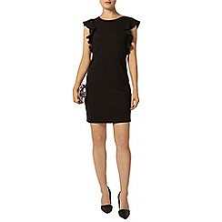 Dorothy Perkins - Black ruffle shift dress