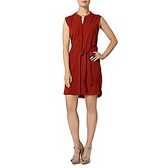 Dorothy Perkins - Terracotta sleeveless shirt dress