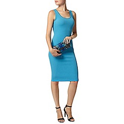 Dorothy Perkins - Blue scoop neck bodycon dress