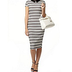 Dorothy Perkins - Stripe contrast collar dress