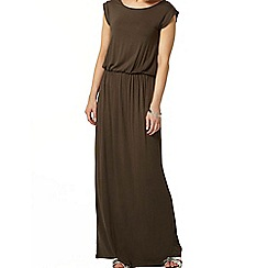 Dorothy Perkins - Khaki t-shirt maxi dress