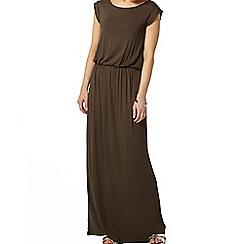 Dorothy Perkins - Khaki t-shirt maxi dress