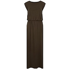Dorothy Perkins - Tall khaki t-shirt maxi dress