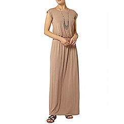 Dorothy Perkins - Stone t-shirt maxi dress