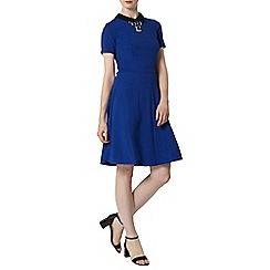 Dorothy Perkins - Tall blue collar fit and flare dress