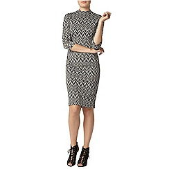 Dorothy Perkins - Print high neck bodycon dress