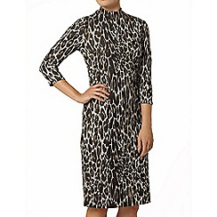 Dorothy Perkins - Animal high neck bodycon dress
