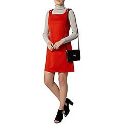 Dorothy Perkins - Orange ponte pinafore dress