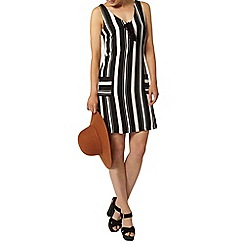 Dorothy Perkins - Neutral stripe pinafore dress