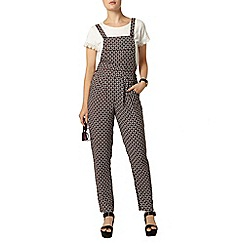Dorothy Perkins - Black and red pinafore jumpsuit