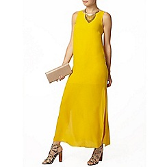 Dorothy Perkins - Side split yellow twill maxi dress