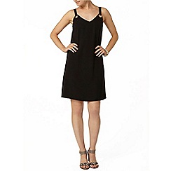 Dorothy Perkins - Black eyelet slip dress