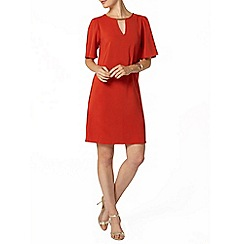Dorothy Perkins - Orange flutter shift dress