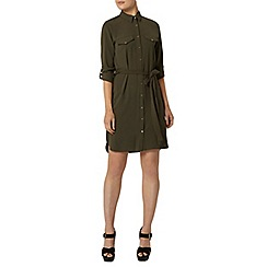 Dorothy Perkins - Khaki collar shirt dress