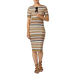 Dorothy Perkins - Zig zag chervon bodycon dress
