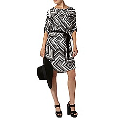 Dorothy Perkins - Graphic tie waist shift dress