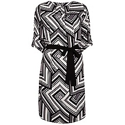 Dorothy Perkins - Tall black and white graphic shirt dress