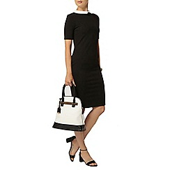 Dorothy Perkins - Black collar bodycon dress