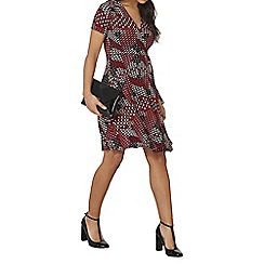Dorothy Perkins - Red and pink geo wrap dress