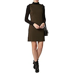 Dorothy Perkins - Khaki epaulette shift dress