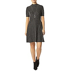 Dorothy Perkins - Silver fit and flare dress