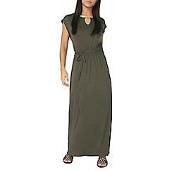 Dorothy Perkins - Khaki gold bar maxi dress