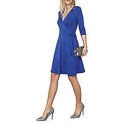 Dorothy Perkins - Bright blue wrap jersey dress