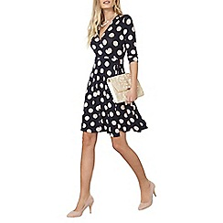 Dorothy Perkins - Navy spot wrap dress