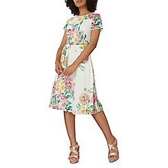 Dorothy Perkins - Ivory floral fit and flare dress