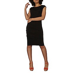 Dorothy Perkins - Black bodycon drape dress