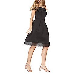 Dorothy Perkins - Black lace fit and flare dress