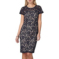 Dorothy Perkins - Navy and nude lace dress