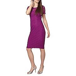Dorothy Perkins - Tall purple lace detail dress