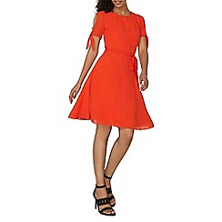 Dorothy Perkins - Red chiffon fit and flare dress