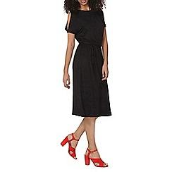 Dorothy Perkins - Black cold shoulder midi dress