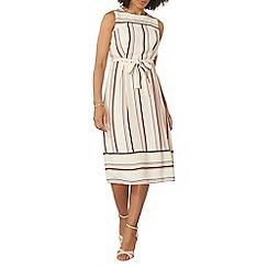 Dorothy Perkins - Ivory stripe midi dress