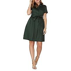Dorothy Perkins - Khaki cotton poplin shirt dress